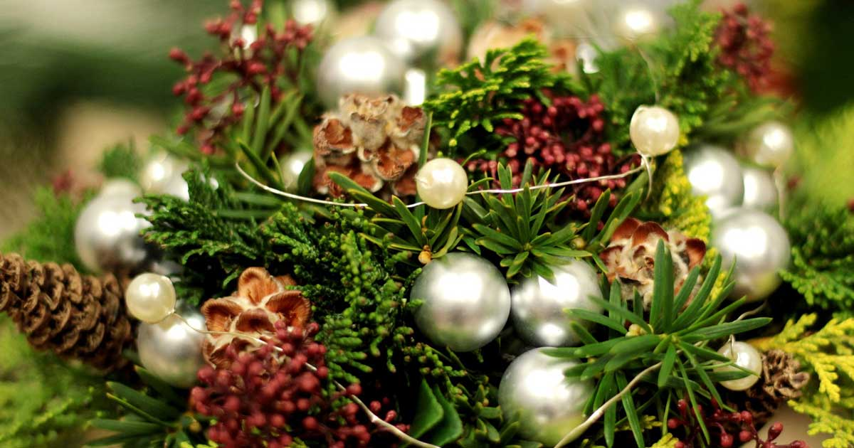 You can decorate your home for the holidays with pearls