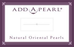 1.9 Natural Pearls on a Classic Add-A-Pearl Card 1 Natural Pearl