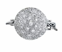 14K White Gold and Diamond Ball Clasp C_DBC Clasps