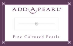 3.5mm Cultured Pearl on a Classic Add-A-Pearl Card C35 Cultured Pearl