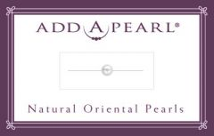 3.8mm Natural Pearl on a Classic Add-A-Pearl Card 50 Natural Pearl