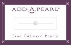 4mm Cultured Pearl on a Classic Add-A-Pearl Card C4 Cultured Pearl