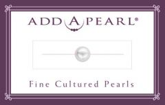 6.5mm Cultured Pearl on a Classic Add-A-Pearl Card C65 Cultured Pearl