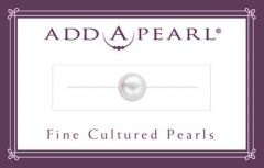 7.5mm Cultured Pearl on a Classic Add-A-Pearl Card C75 Cultured Pearl