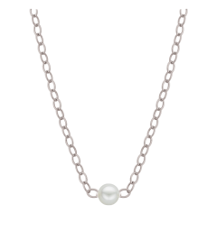 """Natural Starter Necklace (1) 2.3mm on a 14"""" silver chain E4-1 14"""" silver Natural Necklace"""