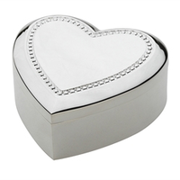 Silver Plated Heart Jewelry Box B1 Earrings & Gifts