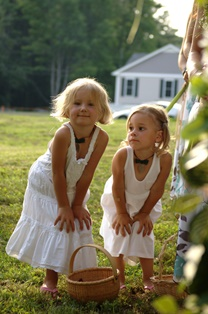 Two cute young flowergirls