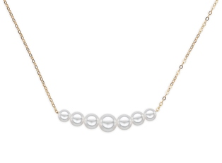 Natural Pearl Starter Necklace with 7 pearls