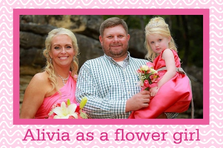 Alivia as a Flower Girl wearing her pearls