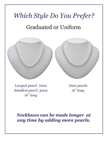 pearl necklace types