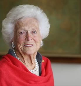 Barbara Bush wearing South Sea Pearls