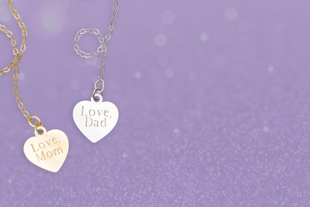 personalize her necklace