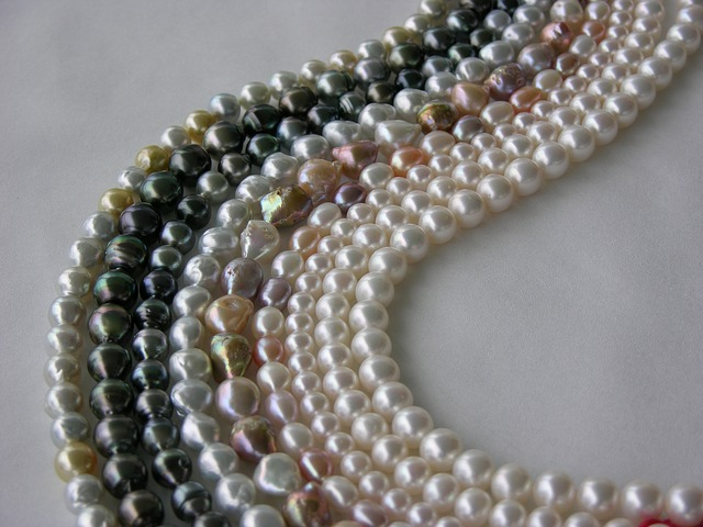 strands of freshwater pearls in various colors