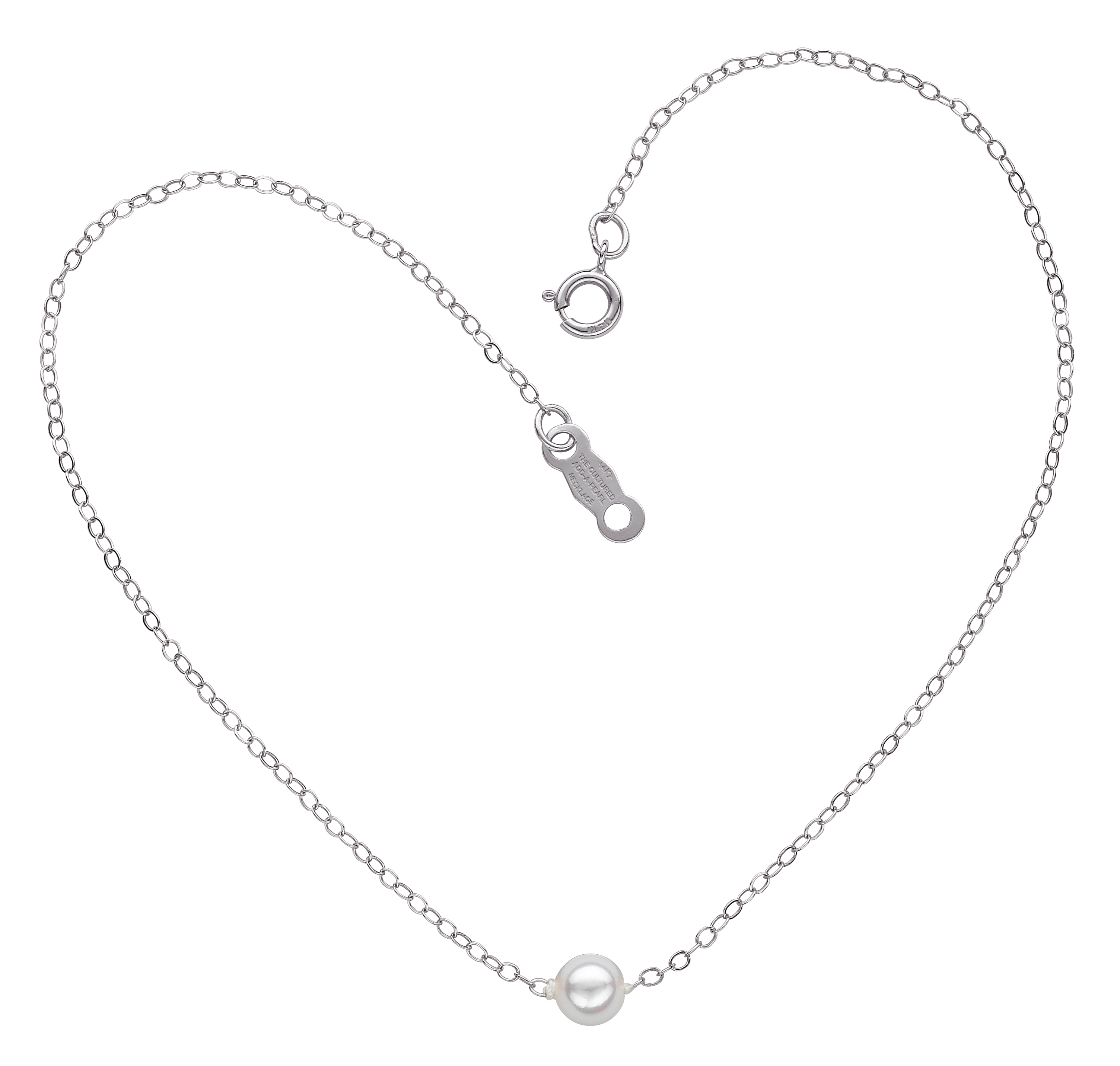 An Add-A-Pearl Heart Necklace, perfect for her Confirmation.
