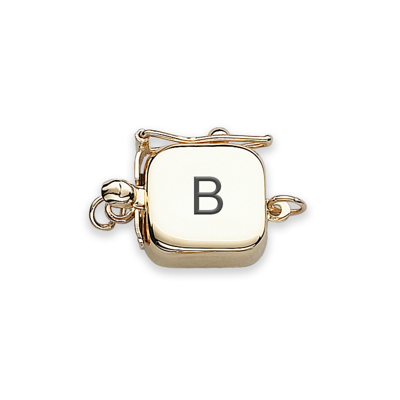 clasp engraved gold block