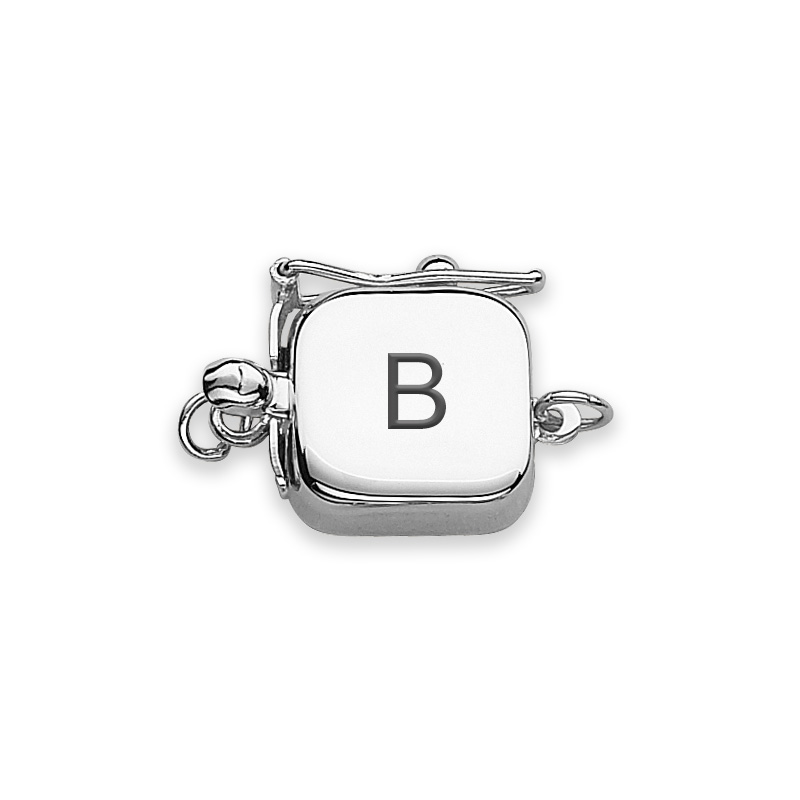clasp engraved white gold block