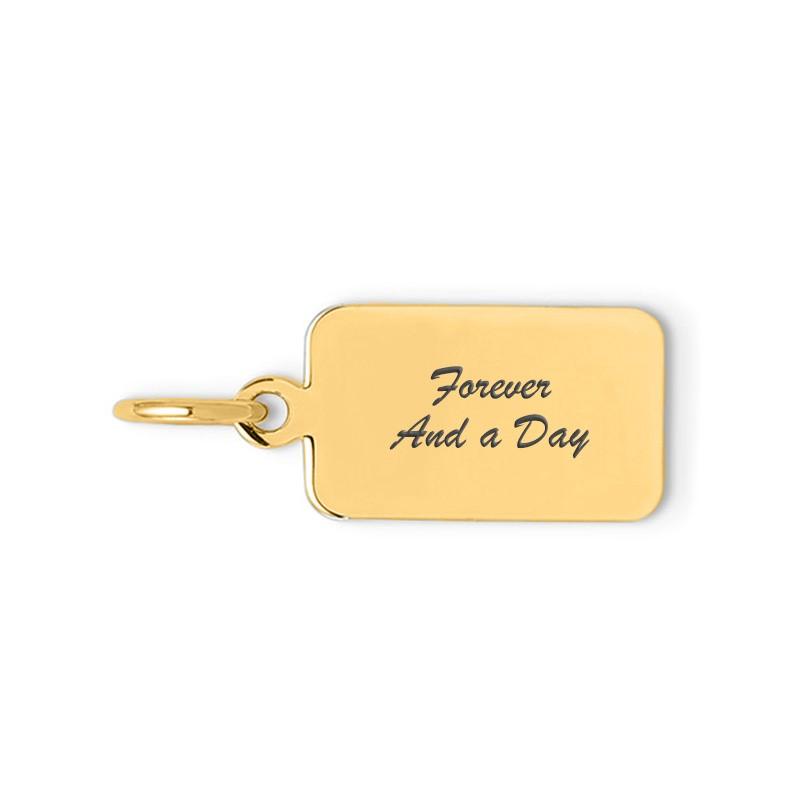 yellow rectangle script charm