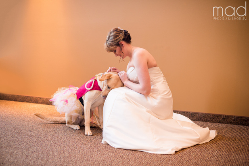 Bella helps her mama on her big day!