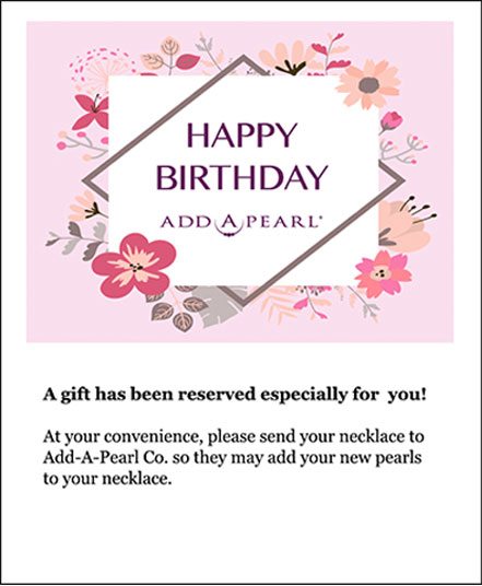 Pearls On-Hold e-gift message
