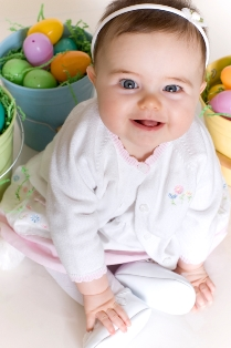 Baby on Easter with Easter ears