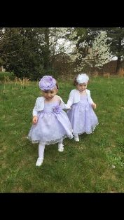 Chloe and Sophia on Easter