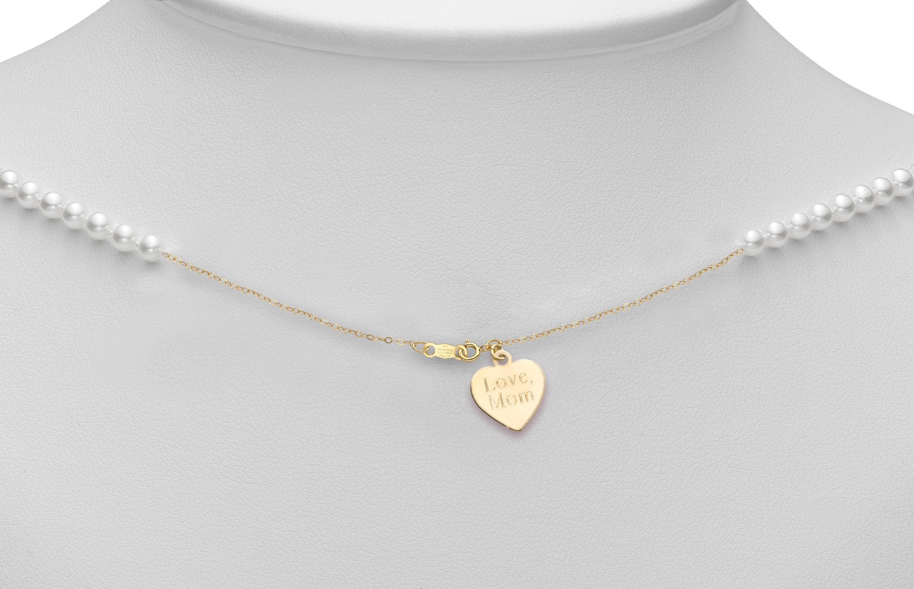 starter necklace engraved heart charm