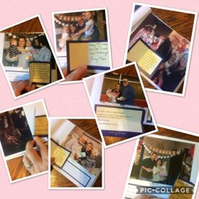 Vivie's collage of when she received pearls