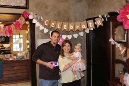 Vivie on her first birthday